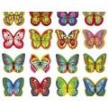 Бабочки вафельные разноцветные с рисунком (180 штук)